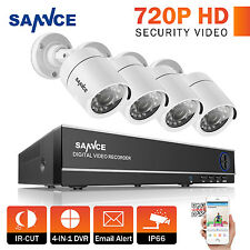 SANNCE 1080N HD 4in1 4CH DVR 720P IR Home Security Camera System Remote Access