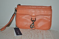 NWT $125 Rebecca Minkoff Skinny MAC Wristlet Clutch Bag Iphone Case ~ Coral