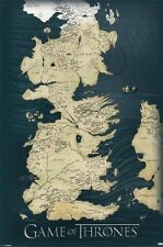 GAME OF THRONES WORLD MAP (LAMINATED) POSTER (61x91cm) TV SERIES OFFICIAL MERCH