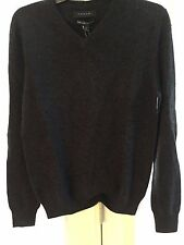 TAHARI MENS 100% LUXE CASHMERE SWEATER SIZE SMALL, DARK GRAY COLOR,NWT