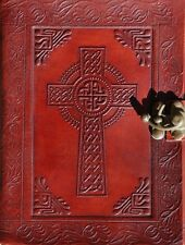Handmade Celtic Cross Tooled Leather Blank Journal Diary Notebook Book (564-WL)