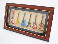 Miniature Musical instrument 6 Guitars in Picture frame - FG6