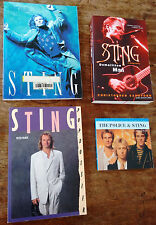STING - lot of 4 books - great photos collection live The Police -no CD LP vinyl