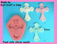 Cross Mould 50mm - Silicone Mould Make Cake Toppers Gum Paste Cake Decorating