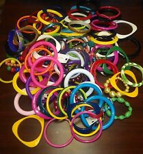 Colorful Lot of  Bangle & Stretch Bracelets, Varying Widths & Materials