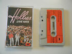 THE HOLLIES - LIVE HITS - CASSETTE TAPE - 1976 RED PAPER LABEL - POLYDOR (UK)