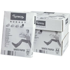 A4 80gsm Lyreco Budget White Paper Box of 5 Reams Free Courier Next Day Delivery