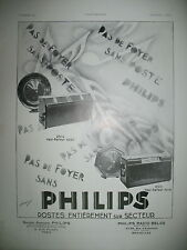 PUBLICITE DE PRESSE PHILIPS POSTE RADIO HAUT-PARLEUR ILLUSTRATION THIRION 1930