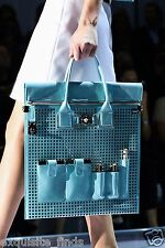 $4K NEW VERSACE PERFORATED PATENT LEATHER AND SNAKESKIN BAG
