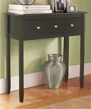 CONTEMPORARY WOOD BLACK ESPRESSO FURNITURE CONSOLE DISPLAY TABLE LIVING ROOM DEN