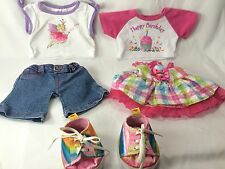 Build A Bear Workshop BABW Outfits Clothing Lot Shirts Pants Dress Shoes