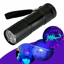 Mini Aluminum UV Ultra Violet 9 LED UV Flashlight Blacklight Torch Light Lamp
