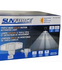 Sunforce Triple Head Solar Motion Activated Light 180 LED 1200 Lumens
