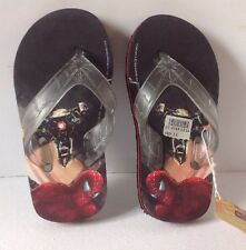Spider- Man 2 boy flip flops size 10/11 New With Tags