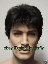 SUPER****** men's costume black short cosplay hair wigs + free wig cap