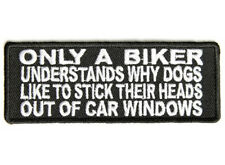 ONLY A BIKER UNDERSTANDS Embroidered Jacket Vest Funny Saying Biker Patch Emblem