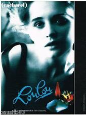 PUBLICITE ADVERTISING 095  1989  CACHAREL parfm LOULOU par SARAH MOON