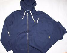 NWT Polo RALPH LAUREN Men's Classic Fleece 2PC Track & Sweat Suits Navy Blue M