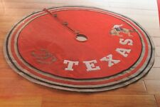 Texas Western Cowboy Christmas Tree Skirt Red & Beige w/ Wood Buttons NEW