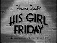 HIS GIRL FRIDAY, 1940, Cary Grant, Rosalind Russell, Hawks comedy:DVD-R:Region 2