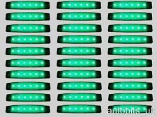 30 pcs GREEN 24V 6 LED Side Front Marker Indicator Lights MERCEDES RENAULT IVECO