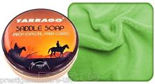 TARRAGO LEATHER SADDLE SOAP LEATHER CLEANER SOFA SHOES BOOTS BAGS FREE CLOTH