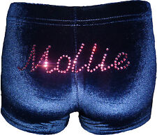 New LILAC LIZARD  velour gymnastic SHORTS (leotard) PERSONALISED name, all sizes