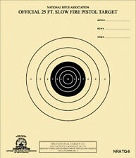 NRA TQ-6 Official 25 Foot Slow Fire Pistol Target -- 100 on heavy paper