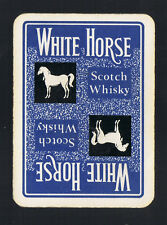 "Playing Swap Cards 1 VINT WIDE ENG ""WHITE  HORSE ""SCOTCH  WHISKY D180  HORSE"