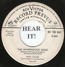 Rudy Vallee POP 45 (RCA 5441 PROMO) The Whiffenpoof Song/Taps