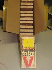 6 VICTOR M326 TRAP WOODEN SNAP SPRING RAT TRAPS PEST CONTROL RATS NEW