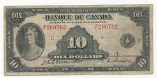 1935 $10 FRENCH Bank note of Canada
