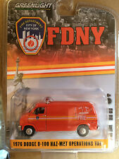 Greenlight  FDNY 76' Dodge B-100 HAZ-MAT Van City of New York Fire Dept.