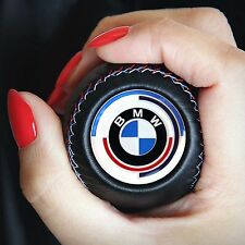 BMW `70s MTECH GEAR STICK SHIFT KNOB E60 E90 E92 E91 E46 E39 M3 M5 M6 LEATHER
