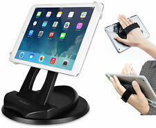 MACALLY HAND STRAP ROTATE CASE + DESK MOUNT FOR TABLET iPAD 3 4 AIR 2 GALAXY TAB