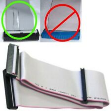 """30""""/2.5ft long 2device FD/Floppy Dual Drive Flat Ribbon Cable/Cord/Wire 3.5""""inch"""