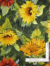 Large Sunflowers Floral Cotton Fabric Flowers Of The Sun 79259 Wilmington - Yard