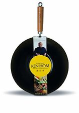 Ken Hom 31 cm Carbon Steel Everyday Non-Stick Wok, Black