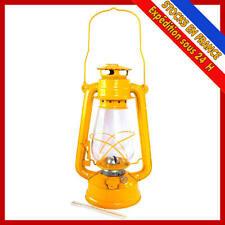 LAMPE LANTERNE A PETROLE DE TEMPETE 230 MM JAUNE
