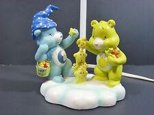 Vintage 2004 Care Bears Sweet Dreams Lamp Nightlight Bedtime & Funshine Bears