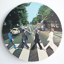"Abbey Road Album Art - The Beatles 12"" LP Vinyl Record Wall Clock, canvas"