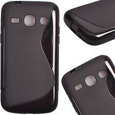 Pour Samsung Galaxy Core Plus G350 - Coque Gel Silicone S-Line Noir  - Un Film