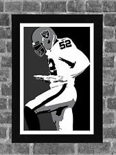 Oakland Raiders Khalil Mack Portrait Sports Print Art 11x17