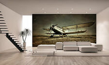 Old Military Plane Wall Mural Photo Wallpaper GIANT DECOR Paper Poster