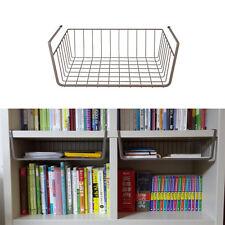 3Pcs of Storage Space Under Basket Rack(BROWN) for Bookshelf, Bookcase, Closet
