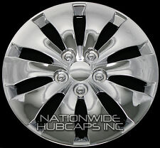 "4 New CHROME 16"" Hub Caps Full Wheel Covers Rim Cap Lug Cover Hubs 10 Slots 439C"