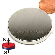 "Neodymium Disk Magnets N42 1.5"" x 3/16"" NdFeB Rare Earth Magnets Lot 5"