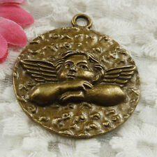 Free Ship 10 pieces bronze plated Cupid pendant 43x37mm #1819