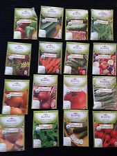 Burpee Seeds  --  Organic Vegetable -  12 NEW Packets , Packaged for 2015