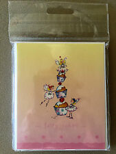 """Pack Of 5 """"Fairy Cakes"""" Blank Note Cards & Envelopes~4 3/4"""" X 4""""~NEW IN PACKAGE"""